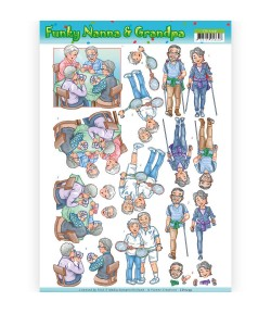FEUILLE 3D FUNKY NANAS - CD11239