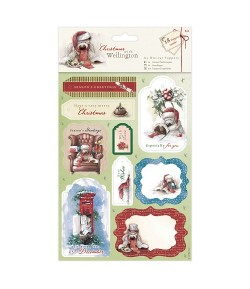 ASSORTIMENT 18 DIE CUTS CHRISTMAS WITH WELLINGTON