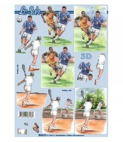FEUILLE 3D FOOT ET TENNIS