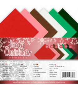 24 CARTES 13.5X27CM LOVELY CHRISTMAS