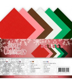 24 FEUILLES A5 250GR -  LOVELY CHRISTMAS 100009