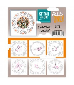 6 CARTES A BRODER STITCH AND DO - SET 009