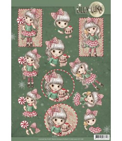 FEUILLE 3D LILLY LUNA CHRISTMAS CD11381