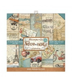 BLOC 10 FEUILLES AROUND THE WORLD 20.3 X 20.3 CM - SBBS12