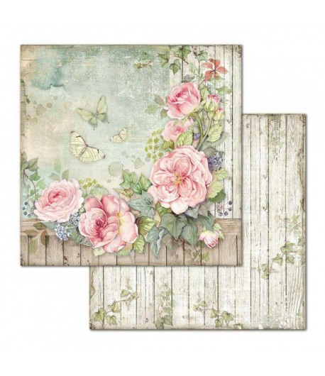 PAPIER HOUSE OF ROSES 30 X 30 CM - SBB675 STAMPERIA
