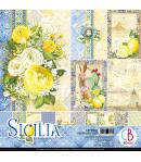 BLOC 12 FEUILLES SICILIA CIAO BELLA 30X30CM CBPM033
