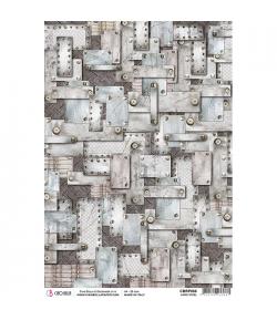 PAPIER DE RIZ HARD STEEL 21 X 29.7CM CBRP086