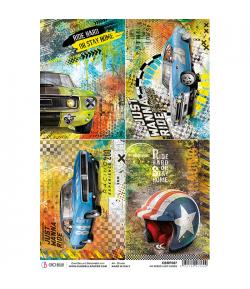 PAPIER DE RIZ NO SPEED LIMIT CARDS 21 X 29.7CM CBRP087
