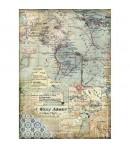 PAPIER DE RIZ A4 MAPS 21 X 29.7 DFSA4457 STAMPERIA