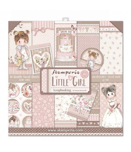 BLOC 10 FEUILLES LITTLE GIRL 30 X 30 CM - SBBL67
