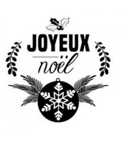 TAMPON BOIS ROND - JOYEUX NOEL