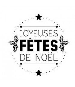 TAMPON BOIS ROND - JOYEUSES FETES DE NOEL