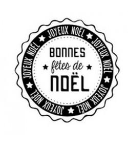 TAMPON BOIS ROND - BONNES FETES DE NOEL