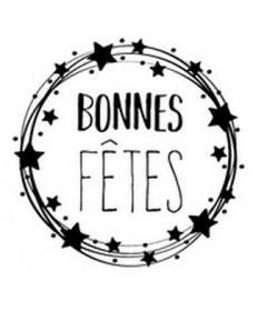 TAMPON BOIS ROND - BONNES FETES