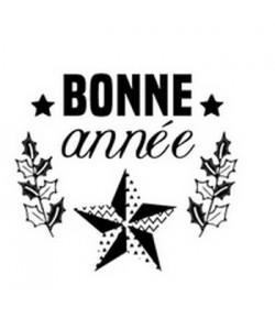 TAMPON BOIS ROND - BONNE ANNEE