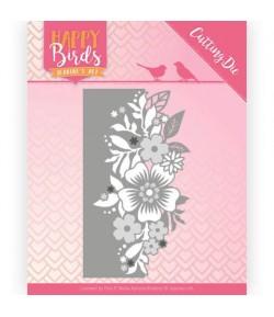 DIE FLOWERS HAPPY BIRDS - JAD10085