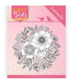 DIE FLOWERS HAPPY BIRDS - JAD10084