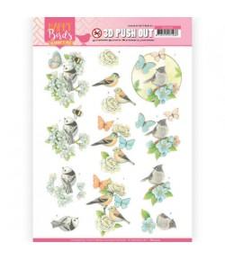 FEUILLE 3D HAPPY BIRDS - SB10414