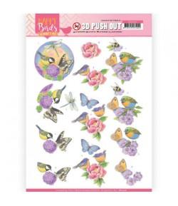 FEUILLE 3D HAPPY BIRDS - SB10416