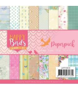 BLOC 23 FEUILLES 15 X 15 CM - HAPPY BIRDS JAPP10013