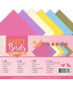 24 CARTES 13.5X27CM HAPPY BIRDS