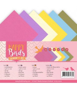 24 FEUILLES A5 250GR -  HAPPY BIRDS 10010