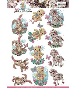 FEUILLE 3D BABY ANIMALS CD11435