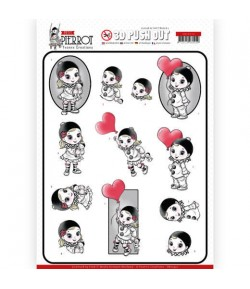 FEUILLE 3D PETIT PIERROT LOVE - SB10432