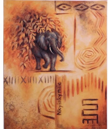 IMAGE 3D ELEPHANT ETHNIQUE 24X30