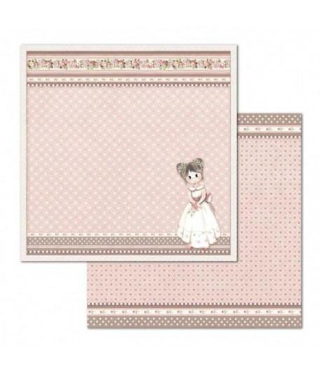 PAPIER LITTLE GIRL 30 X 30 CM - SBB682 STAMPERIA