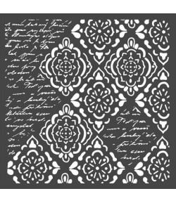 POCHOIR WALLPAPER AND WRITTINGS 18X18 EP 0.25 KSTDQ36