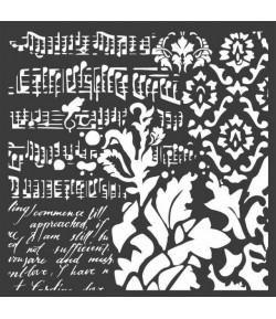 POCHOIR WALLPAPER MUSIC 18X18 EP 0.25 KSTDQ37