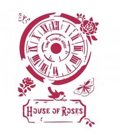 POCHOIR HOUSE OF ROSES 21X29.7CM KSG442