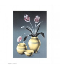 IMAGE 3D VASES ET TULIPES 24X30 AS132