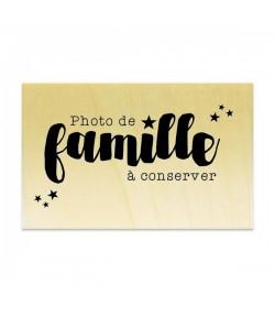 TAMPON BOIS - PHOTO DE FAMILLE A CONSERVER