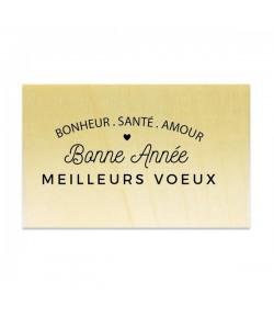 TAMPON BOIS - BONNE ANNÉE MEILLEURS VOEUX