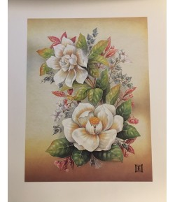 IMAGE 3D FLEURS BLANCHES 24X30 AS192