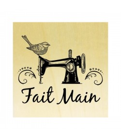 TAMPON BOIS - FAIT MAIN MACHINE A COUDRE