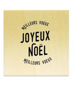 TAMPON BOIS - JOYEUX NOEL MEILLEURS VOEUX