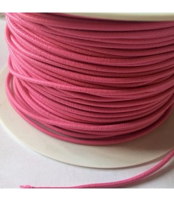 CORDON ELASTIQUE ROSE 3MM - 1M