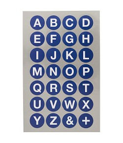 STICKERS ALPHABET GRAND ROND BLEU