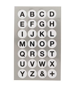 STICKERS ALPHABET GRAND ROND BLANC