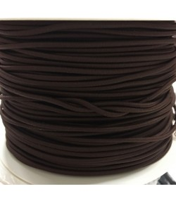 CORDON ELASTIQUE MARRON 3MM - 1M