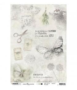 PAPIER DE RIZ A4 PAPILLON 21 X 29.7 - STUDIOLIGHT