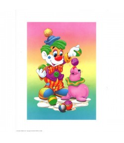 IMAGE 3D CLOWN ET OTARIE 24X30