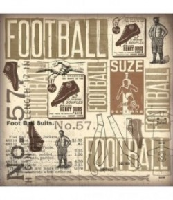 FEUTRINE FOOTBALL 30 X 30 CM - 1 MM
