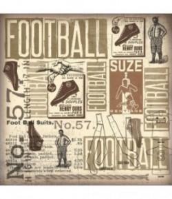 FEUTRINE FOOTBALL 30 X 30 CM - 1 MM