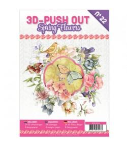 BLOC 3D A4 + PAPIERS -  SPRING FLOWERS N°22