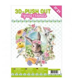 BLOC 3D A4 + PAPIERS -  SPRING ANIMALS N°21