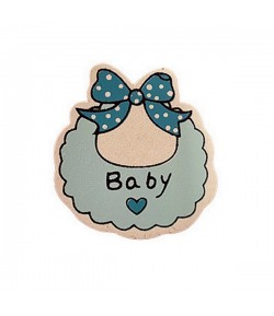 BAVOIR EN BOIS BABY - BLEU